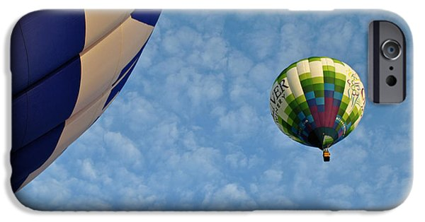 Hot Air Balloon iPhone Cases - Balloons in the Sky  iPhone Case by Mountain Dreams