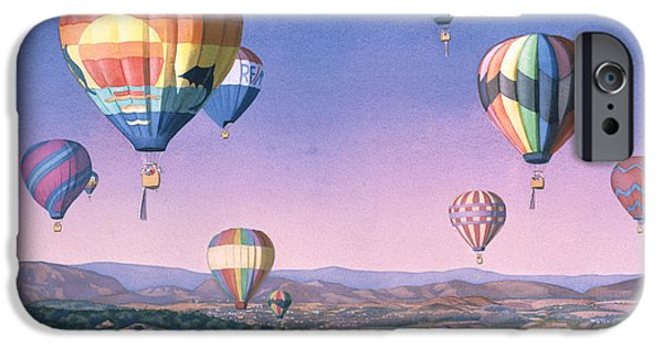 Santa iPhone Cases - Balloons over San Dieguito iPhone Case by Mary Helmreich