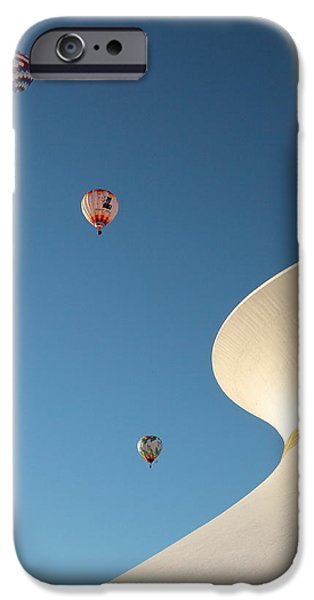 Recently Sold -  - Hot Air Balloon iPhone Cases - Balloons Race over the Planetarium iPhone Case by Scott Rackers