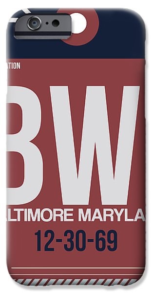 Baltimore iPhone Cases - Baltimore Airport Poster 2 iPhone Case by Naxart Studio