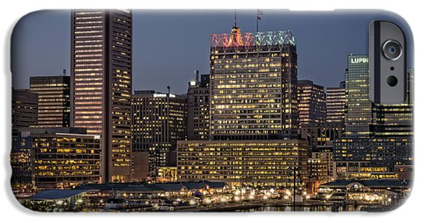Baltimore iPhone Cases - Baltimore at Dusk iPhone Case by Rick Berk