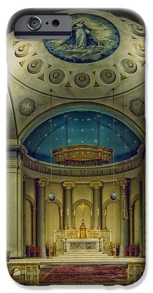Christ Artwork iPhone Cases - Baltimore Basilica Sanctuary  iPhone Case by Mountain Dreams
