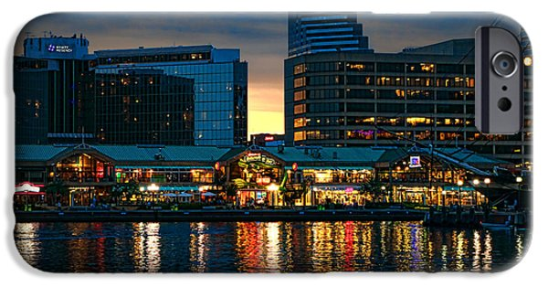 Constellations iPhone Cases - Baltimore Harborplace Light Street Pavilion iPhone Case by Olivier Le Queinec