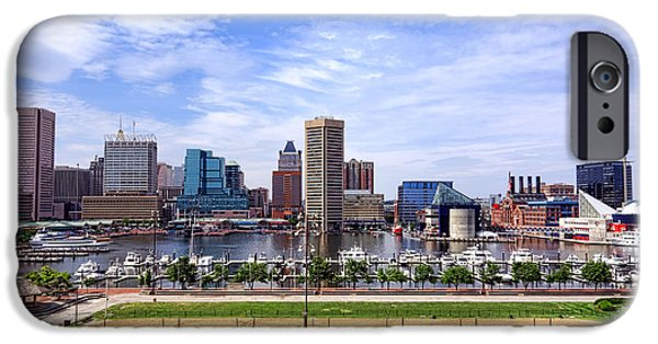 Baltimore iPhone Cases - Baltimore Inner Harbor Beach - Generic iPhone Case by Olivier Le Queinec