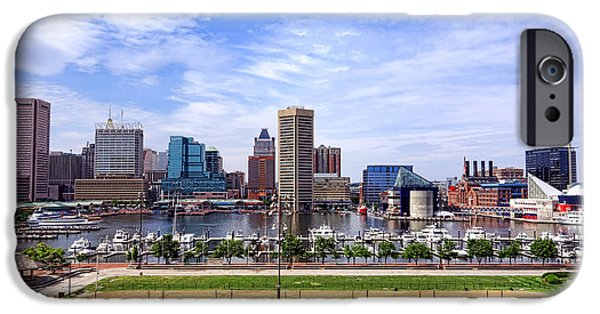 Volley iPhone Cases - Baltimore Inner Harbor Beach iPhone Case by Olivier Le Queinec