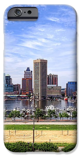 Baltimore Inner Harbor Beach iPhone Case by Olivier Le Queinec
