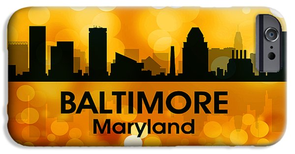 Concrete Jungle iPhone Cases - Baltimore MD 3 iPhone Case by Angelina Vick