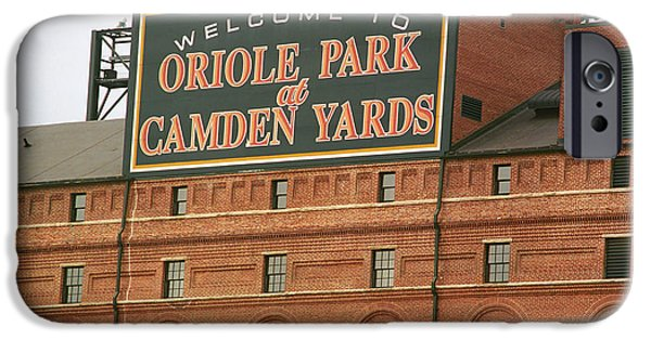 Framed iPhone Cases - Baltimore Orioles Park at Camden Yards iPhone Case by Frank Romeo