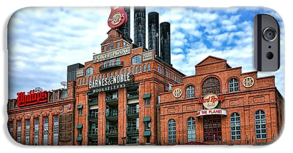 Noble iPhone Cases - Baltimore Power Plant iPhone Case by Olivier Le Queinec