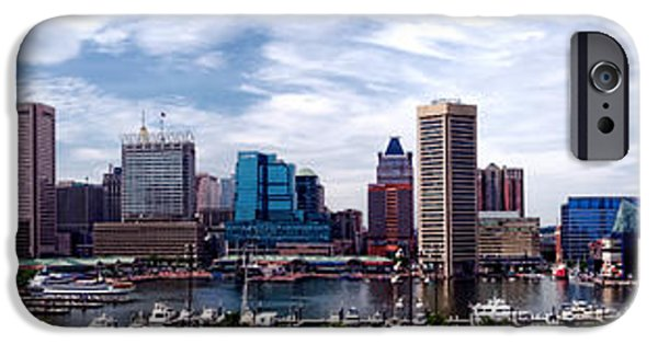 Baltimore iPhone Cases - Baltimore Skyline iPhone Case by Olivier Le Queinec