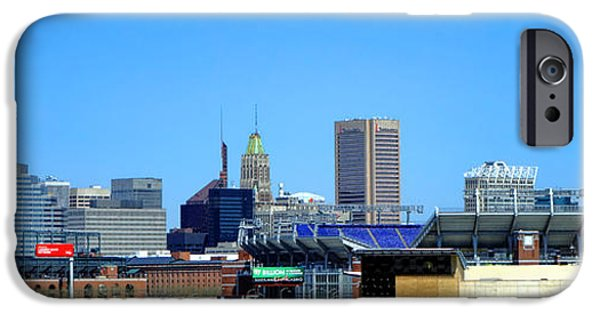 Baseball Stadiums iPhone Cases - Baltimore Stadiums iPhone Case by Olivier Le Queinec