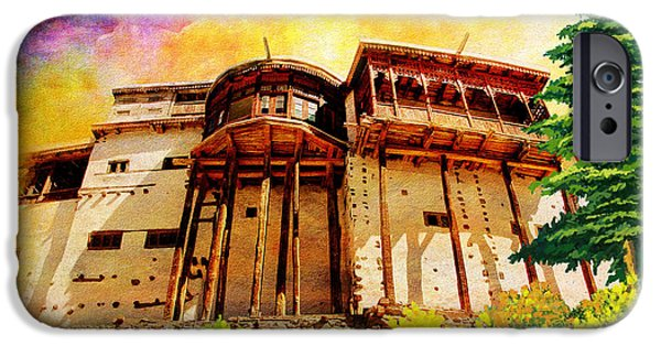 Pakistan iPhone Cases - Baltit Fort iPhone Case by Catf