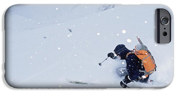 Winter Storm iPhone Cases - Balu Pass, British Columbia, Canada iPhone Case by Dan Sherwood