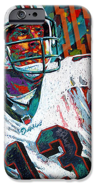 Sport Paintings iPhone Cases - Bambino dOro Dan Marino iPhone Case by Maria Arango