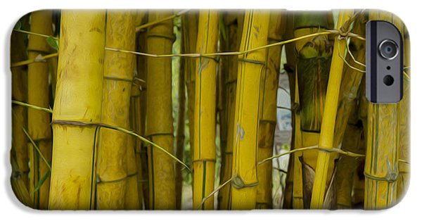 """""""abstract Art"""" Digital Art iPhone Cases - Bamboo Forest iPhone Case by Aged Pixel"""