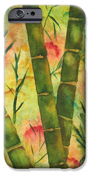 Nature Abstracts iPhone Cases - Bamboo Garden iPhone Case by Chrisann Ellis