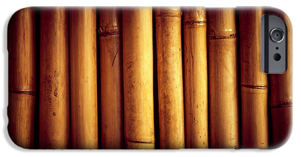 Bamboo Fence iPhone Cases - Bamboo  iPhone Case by Modern Art Prints