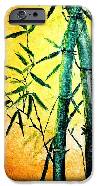 Concept Art Drawings iPhone Cases - Bamboo magic iPhone Case by Nirdesha Munasinghe