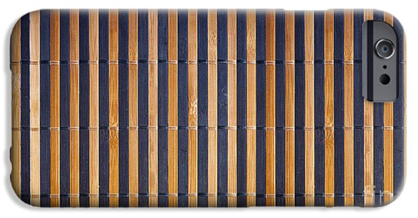 Matting iPhone Cases - Bamboo Mat Texture iPhone Case by Tim Hester