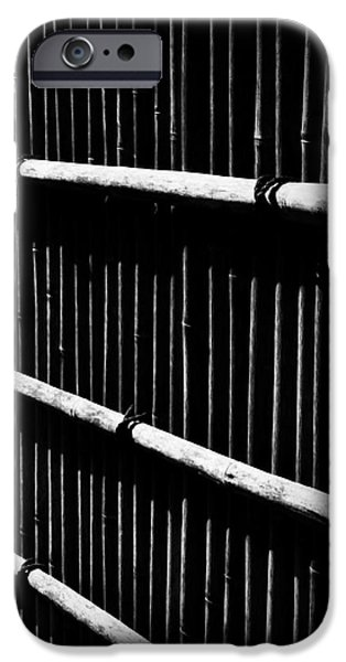 Bamboo Fence iPhone Cases - Bamboo Screen iPhone Case by Claire Carpenter
