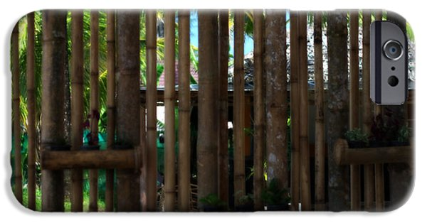 Bamboo Fence iPhone Cases - Bamboo View iPhone Case by Nomad Art And  Design