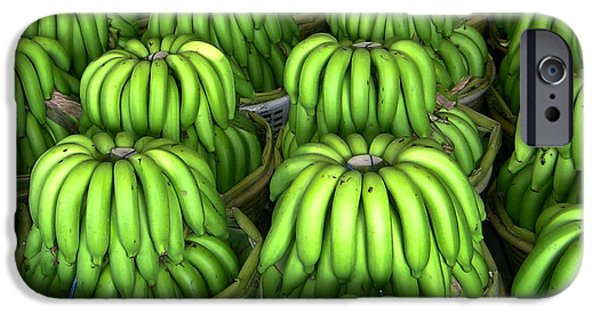 Amusements iPhone Cases - Banana Bunch Gathering iPhone Case by Douglas Barnett