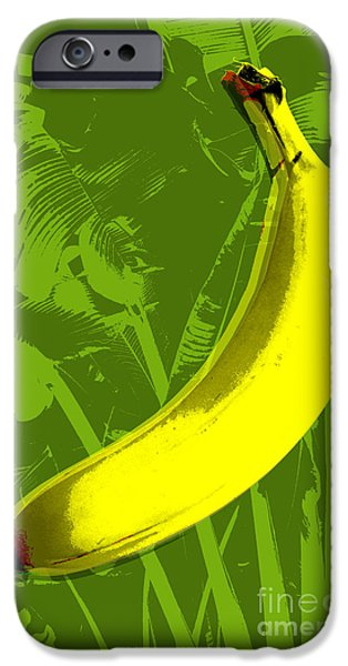 Pop Art iPhone Cases - Banana pop art iPhone Case by Jean luc Comperat