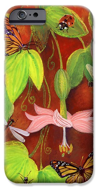 Fauna Glass Art iPhone Cases - Bananapoka iPhone Case by Anna Skaradzinska