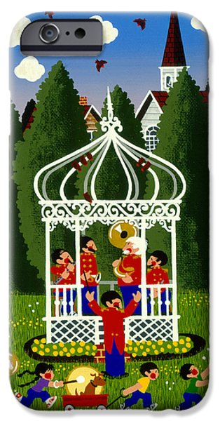 Bandstand iPhone Cases - Band Competition  iPhone Case by Merry  Kohn Buvia