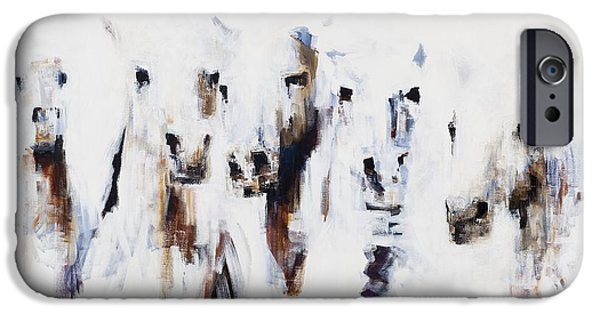 Art Of Horses iPhone Cases - Band On The Run iPhone Case by Frances Marino