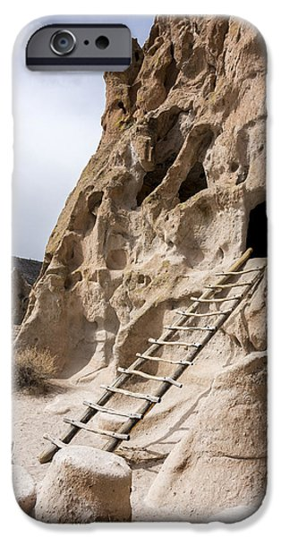 Rio Grande iPhone Cases - Bandelier Caveate - Bandelier National Monument New Mexico iPhone Case by Brian Harig