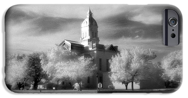 First Lady iPhone Cases - Bandera County Courthouse iPhone Case by Greg Kopriva