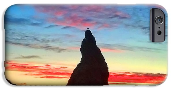 Ocean Sunset Photographs iPhone Cases - Bandon Clouds iPhone Case by Darren  White