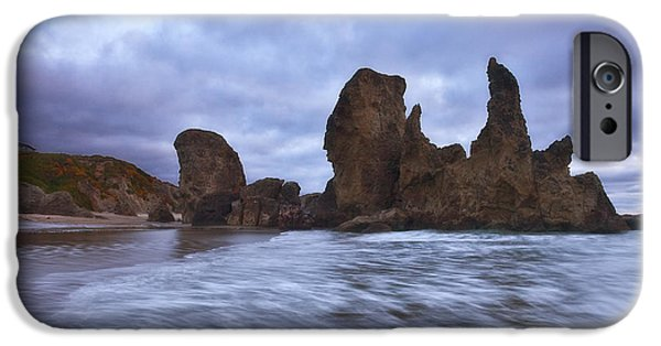 Oregon Coast iPhone Cases - Bandon Moon iPhone Case by Darren  White