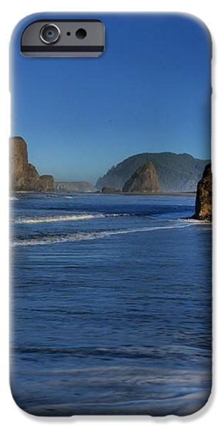Bandon Sea Stacks In The Surf iPhone Case by Adam Jewell