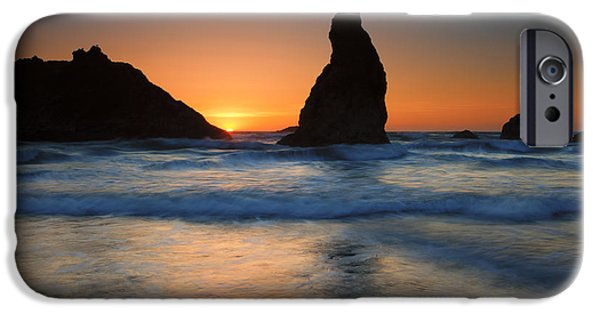 Face Photographs iPhone Cases - Bandon Sundown iPhone Case by Mike  Dawson