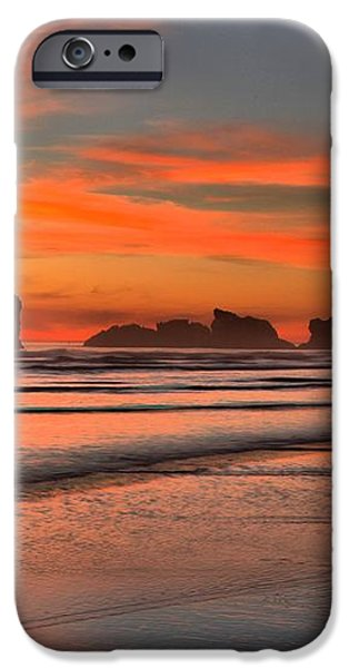 Bandon Sunset And Surf iPhone Case by Adam Jewell