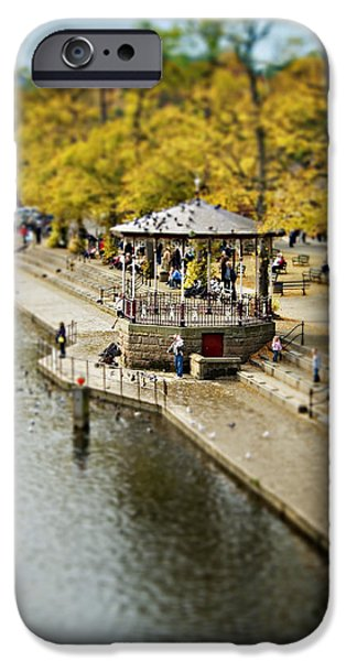 Bandstand iPhone Cases - Bandstand In Chester iPhone Case by Meirion Matthias