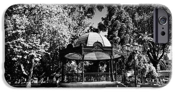 Bandstand iPhone Cases - Bandstand In Plaza Square Constitucion Chile iPhone Case by Joe Fox