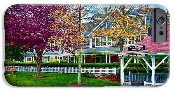 Chatham Paintings iPhone Cases - Bandstand iPhone Case by Kirt Tisdale