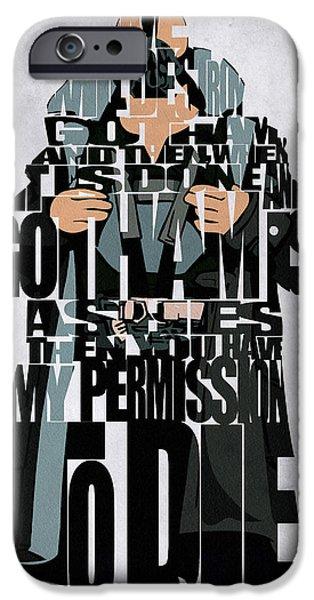 Bane Inspired The Dark Knight Poster iPhone Case by Ayse Deniz