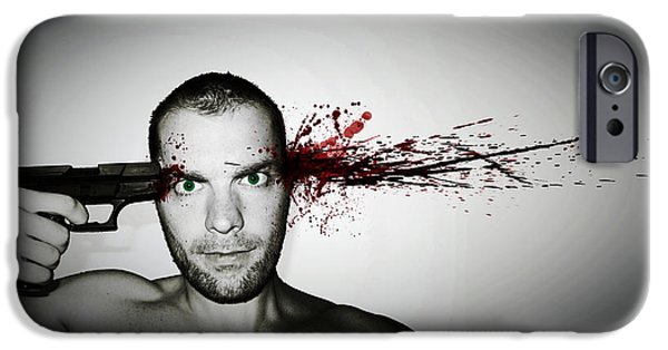 Weapon Digital iPhone Cases - Bang... iPhone Case by Nicklas Gustafsson