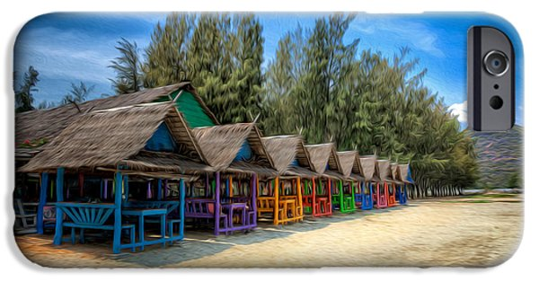 Bang iPhone Cases - Bang Pu Beach Huts iPhone Case by Adrian Evans