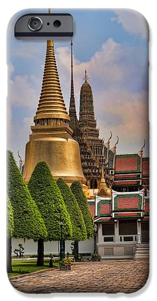 Buddhism iPhone Cases - Bangkok Palace Temple 3 iPhone Case by David Smith