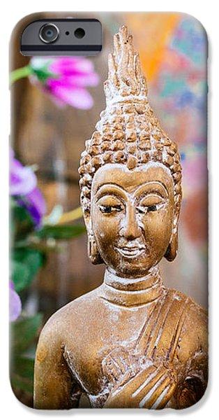 Bangkok Temple Buddha iPhone Case by Dean Harte