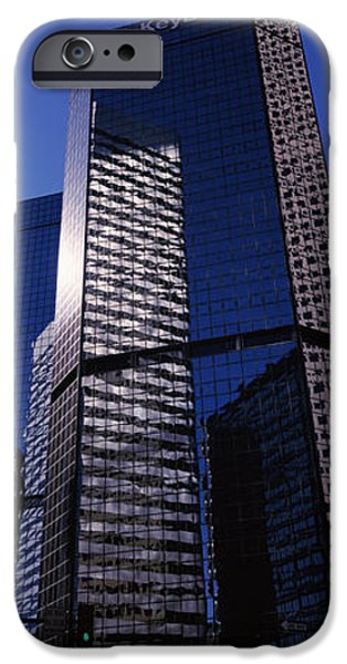 Finance iPhone Cases - Bank Building In A City, Key Bank iPhone Case by Panoramic Images