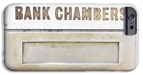 Finance iPhone Cases - Bank chambers iPhone Case by Tom Gowanlock