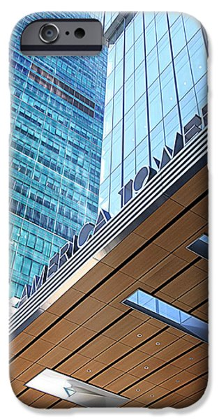 Bank Of America iPhone Cases - Bank of America Tower iPhone Case by Valentino Visentini