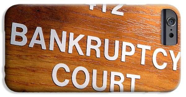 Finance iPhone Cases - Bankruptcy Court iPhone Case by Olivier Le Queinec