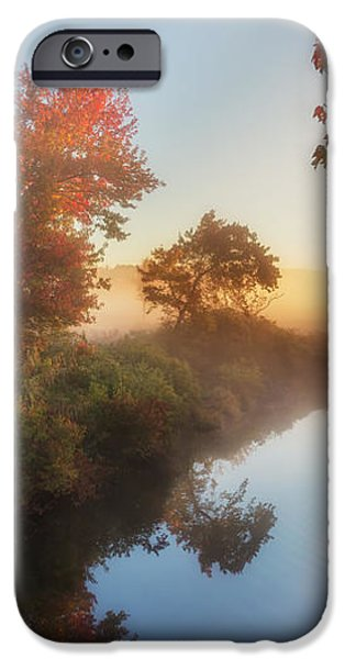 Bantam River Sunrise iPhone Case by Bill  Wakeley